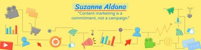 LinkedIn Cover Template for a Content Marketing Professional 1595e