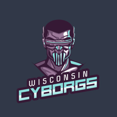 Logo Generator Featuring a Futuristic Cyborg Clipart 2340a