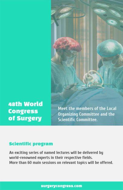 Medical Flyer Maker for Surgery Conferences 98f-1605