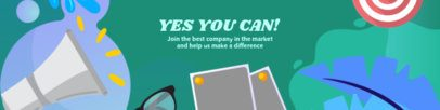 LinkedIn Banner Creator with Marketing-Related Illustrations 1591f