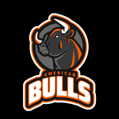 Gaming Logo Template Featuring a Bull Clipart 21m - 2339