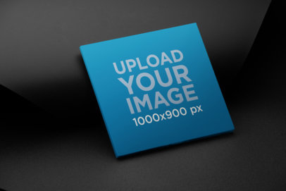Mockup of a Digipak Placed Against a Black Background 28338