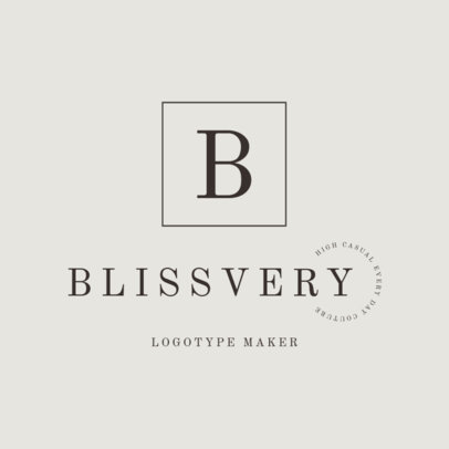 Minimalist Logo Maker for a Clothing Brand with Letters Only 2357