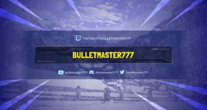Battle Royale Twitch Banner Generator with a Snowy Landscape Background 1461g-1648