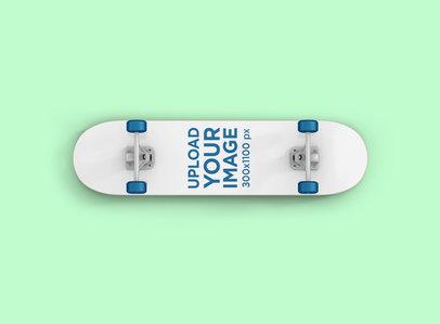 Skateboard Mockup With a Plain Background 382-el