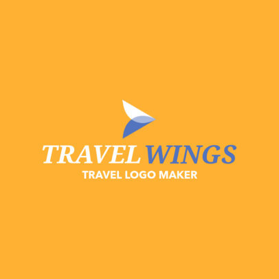 Travel Agency Logo Maker with an Abstract Icon 1148f-2368