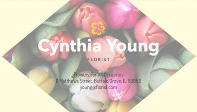 Florist Business Card Template with Customizable Images 152a-1903