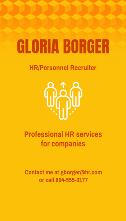 Vertical Business Card Maker for an HR Agency 672d-1903