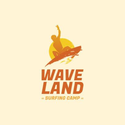 Surfing Camp Logo Generator 2376c