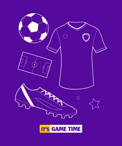 T-Shirt Design Maker Featuring Illustrations Based in FIFA 1630h