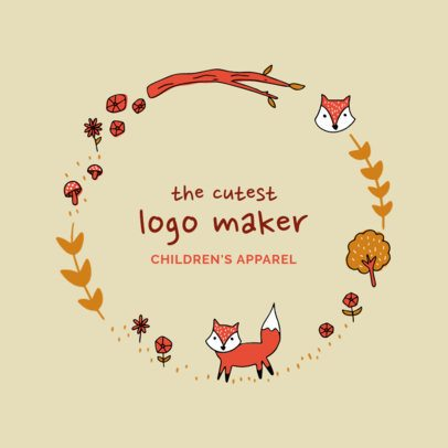 Kids Apparel Logo Design Maker with Nature Clipart 2352b