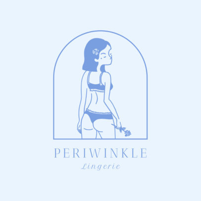 Lingerie Brand Logo Maker with Minimal Illustrations 2356a