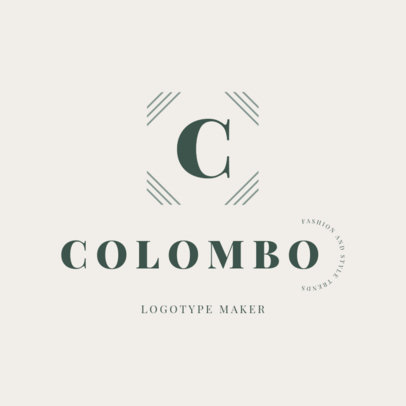 Logo Template for a Clothing Brand with a Letter Graphic 2357d