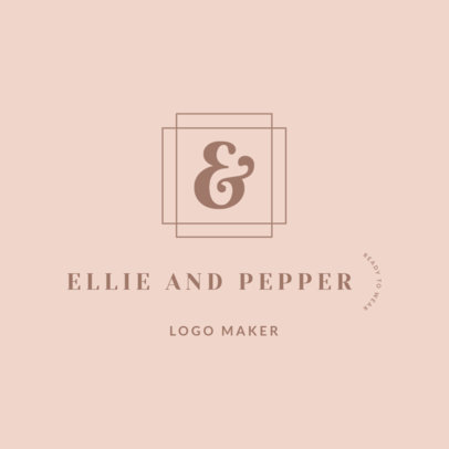 Clothing Brand Logo Maker with an Ampersand Sign 2357e
