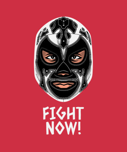 T-Shirt Design Template for Masked Fighters Fans 1640g