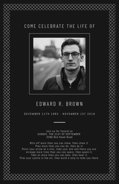 Beautiful Celebration of Life Program Template 1643g