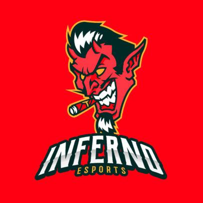 Logo Generator Featuring a Devil Smoking 383bb-2363