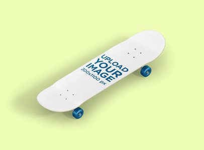 Skateboard Mockup Placed in a Minimalist Environment 385-el
