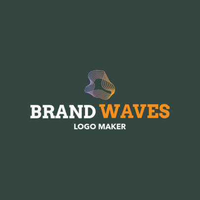 Abstract Logo Maker with a Wavy Icon 1519g-2343