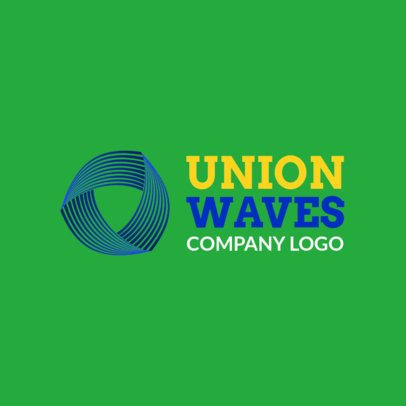 Logo Template with an Abstract Wavy Triangle Shape 1519i-2343