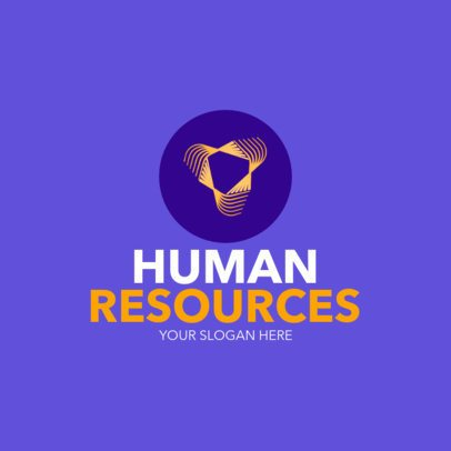 Logo Maker with a Minimalist Icon for a Human Resources Agency 1449h-2343
