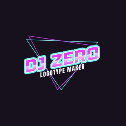 Modern DJ Logo Maker with an Edgy Design 2351