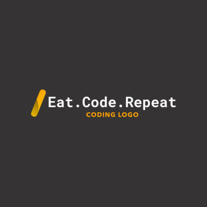 Minimalist Logo Maker for Web Developers 2374g