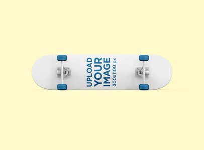 Mockup of a Skateboard Lying on Its Side in a Customizable Setting 388-el