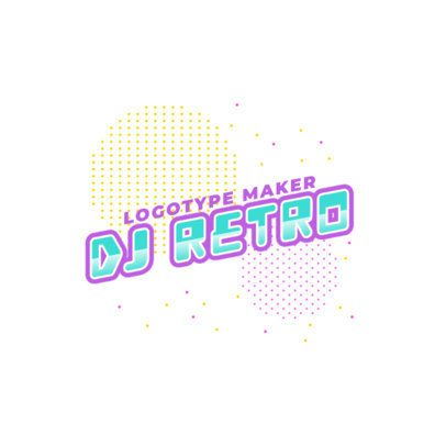 Simple Online Logo Generator for a Retro DJ 2351d