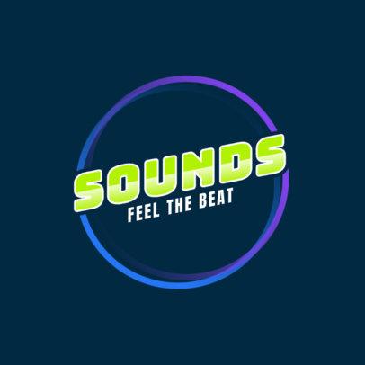 DJ Logo Generator with a Simple Circular Design 2351e