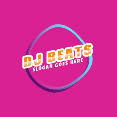 Colorful DJ Logo Template with a Modern Style 2351f