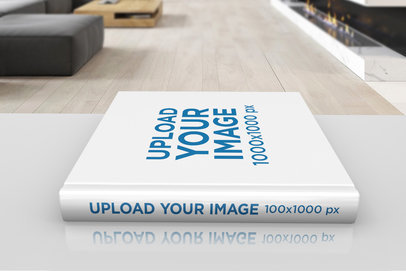 Mockup Featuring a Hardcover Book Lying on a Desk 294-el