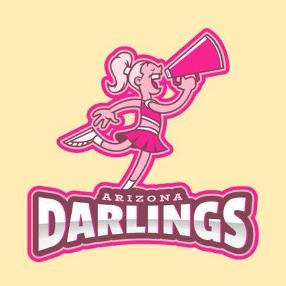 Cheerleading Logo Creator Featuring Cool Illustrations 2412c