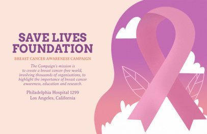 Breast Cancer Awareness Campaign Flyer Maker 1676a