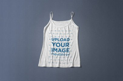 Mockup of a Women's Tank Top Lying on a Flat Surface 364-el