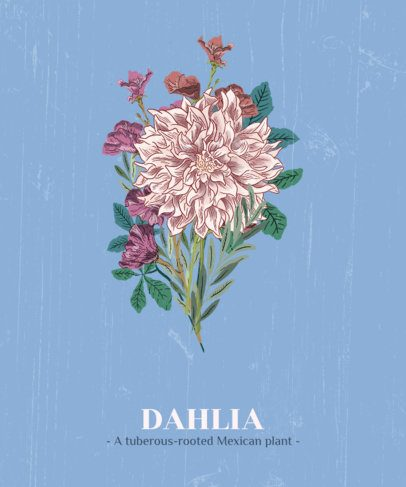 Flower T-Shirt Design Maker Featuring a Dahlia 1661c