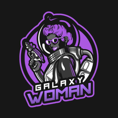 Fortnite-Style Gaming Logo Maker Featuring an Astronaut Woman 2400a 2407