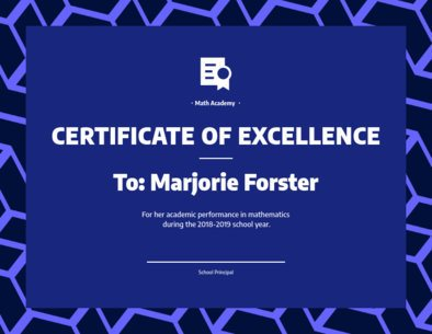 Certificate Maker for an Outstanding Performance 1669a