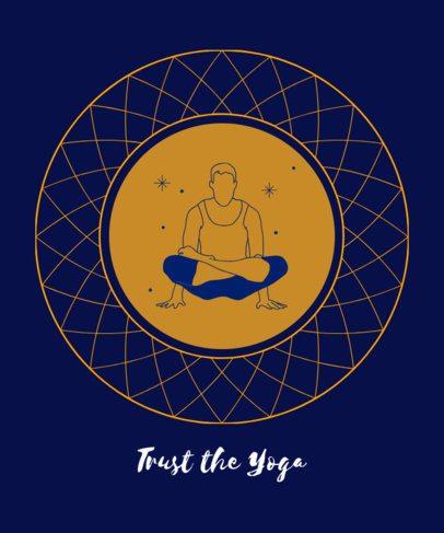 Yoga T-Shirt Design Maker Featuring a Balanced Man 1666g