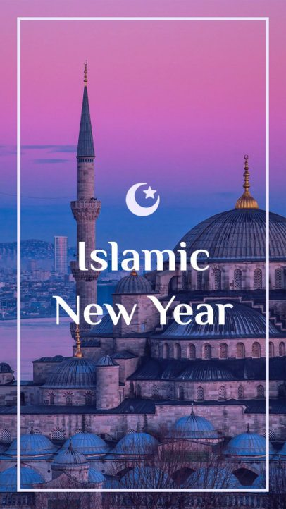 Instagram Story Template for an Islamic New Year Celebration 1606b
