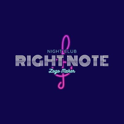 Neon Nightclub Logo Maker with a Musical Style 2416d