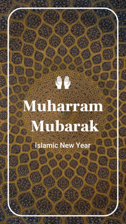 Muharram Mubarak Instagram Story Maker with a Patterned Background 1606d