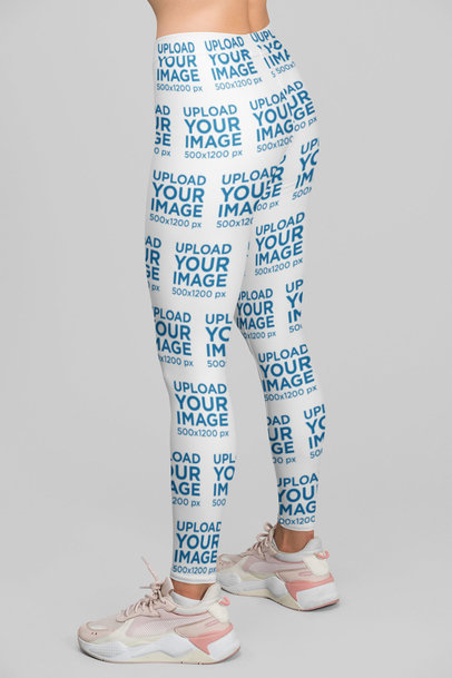 Leggings Mockup Featuring a Woman at a Studio 28719