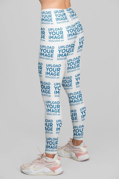 Leggings Mockup Featuring a Woman at a Studio 28719