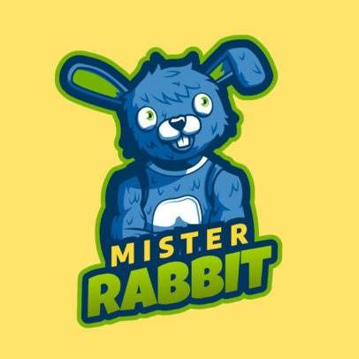 Gaming Logo Maker Featuring a Rabbit Character Inspired in Fortnite Skins 2399b 2407