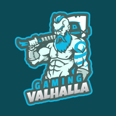Fortnite-Inspired Gaming Logo Maker Featuring a Bearded Warrior with an Axe 2397e 2407