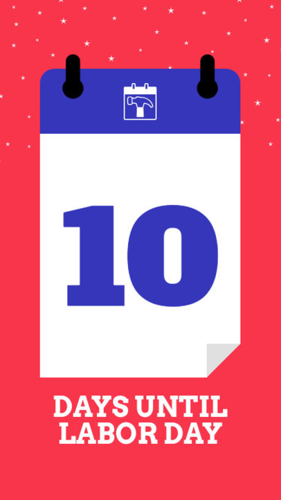 Instagram Story Design Maker with a Countdown Calendar for Labor's Day 1000h-1691