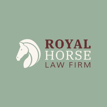 Law Logo Generator with a Horse Head Icon 1194g-2411