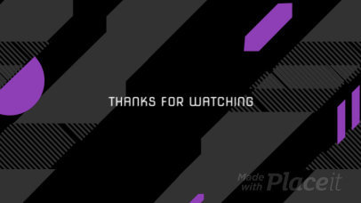 Twitch Screen Video Maker with a Cool Diagonal Loop Animation 1607
