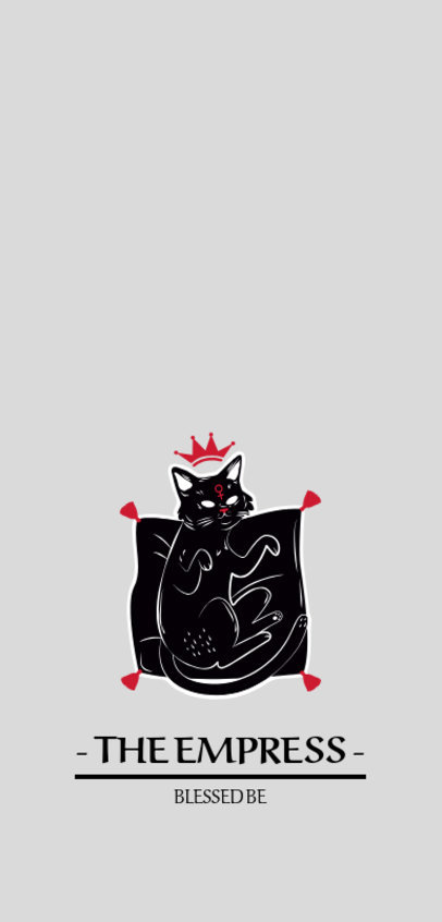 Phone Case Maker Featuring a Dark Cat Illustration with a Crown 1688c